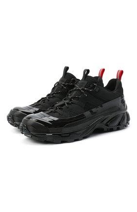Мужские комбинированные кроссовки arthur BURBERRY черного цвета, арт. 8020089   Фото 1