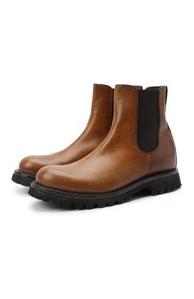 Мужские кожаные челси MOMA коричневого цвета, арт. 2CW122-TE | Фото 1