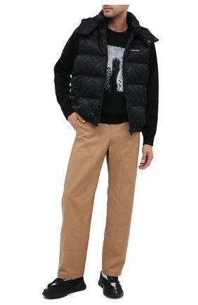 Мужские текстильные кроссовки FENDI черного цвета, арт. 7E1366 AC7B | Фото 2