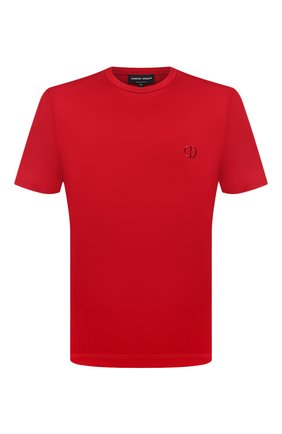 Мужская хлопковая футболка GIORGIO ARMANI красного цвета, арт. 3HSM72/SJTKZ | Фото 1