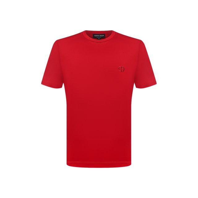 Хлопковая футболка Giorgio Armani