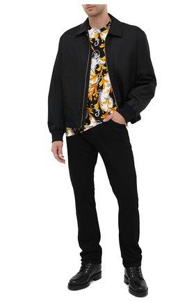 Мужская хлопковая футболка VERSACE разноцветного цвета, арт. A77276/A236035 | Фото 2