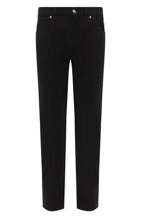 Мужские джинсы VERSACE черного цвета, арт. A86452/A235999 | Фото 1