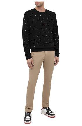 Мужской хлопковый свитшот SAINT LAURENT черного цвета, арт. 632422/YBQZ2 | Фото 2