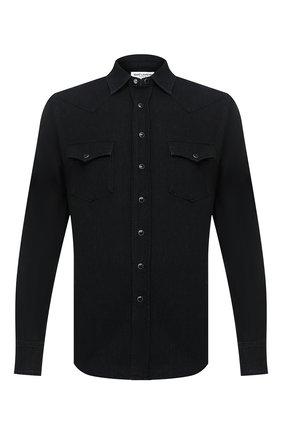 Мужская джинсовая рубашка SAINT LAURENT черного цвета, арт. 597059/Y880S | Фото 1