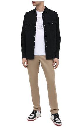 Мужская джинсовая рубашка SAINT LAURENT черного цвета, арт. 597059/Y880S | Фото 2