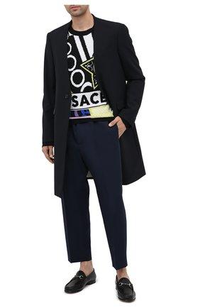 Мужские кожаные лоферы GUCCI черного цвета, арт. 583804/BLM00 | Фото 2