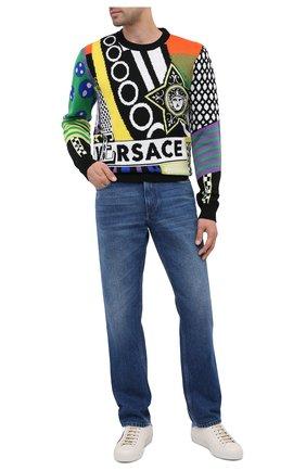 Мужские кожаные кеды new ace GUCCI белого цвета, арт. 625783/1XG70 | Фото 2