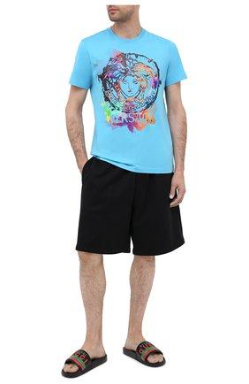 Мужские кожаные шлепанцы GUCCI черного цвета, арт. 632183/DIR00 | Фото 2