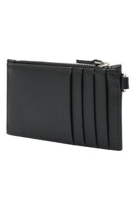 Мужской кожаный футляр для кредитных карт BALENCIAGA черного цвета, арт. 594548/1I373 | Фото 2