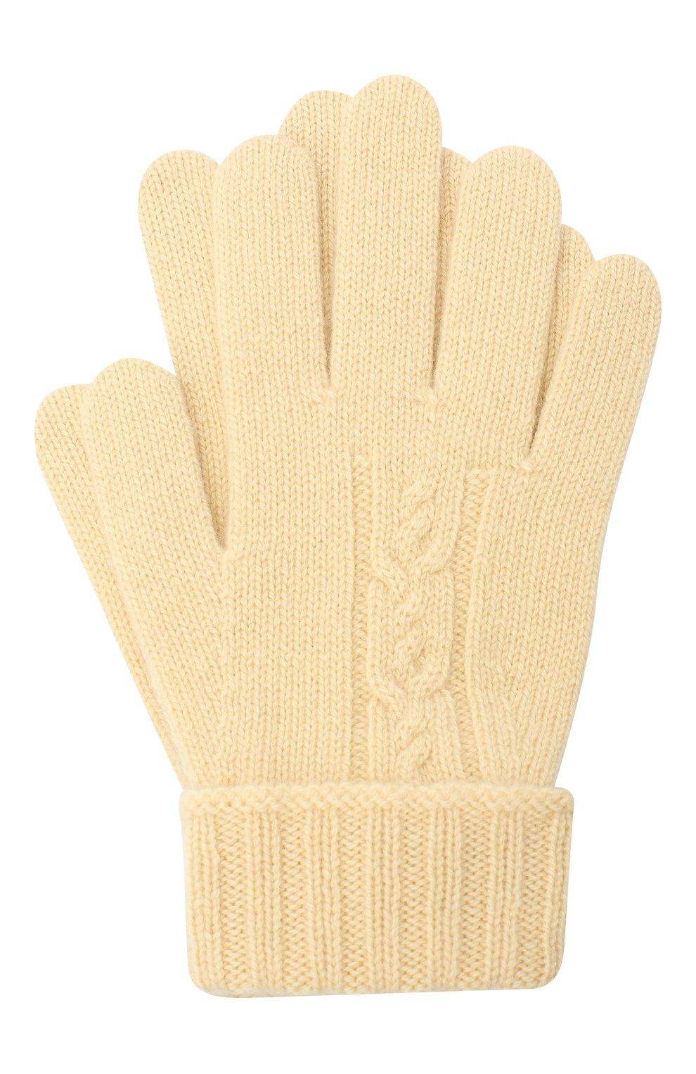 Детские кашемировые перчатки LORO PIANA бежевого цвета, арт. FAI7332   Фото 1