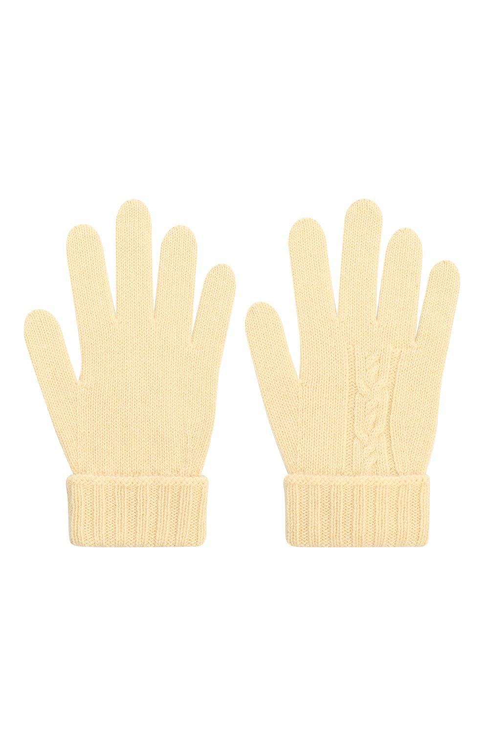 Детские кашемировые перчатки LORO PIANA бежевого цвета, арт. FAI7332   Фото 2