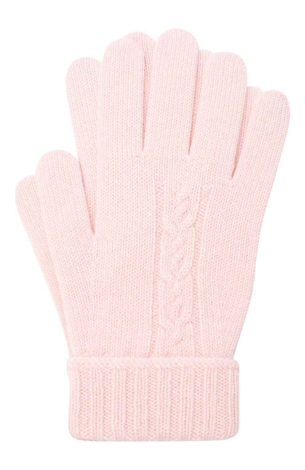 Детские кашемировые перчатки LORO PIANA розового цвета, арт. FAI7332 | Фото 1