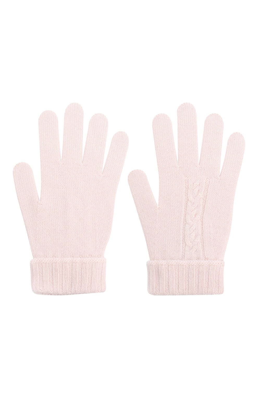 Детские кашемировые перчатки LORO PIANA розового цвета, арт. FAI7332 | Фото 2