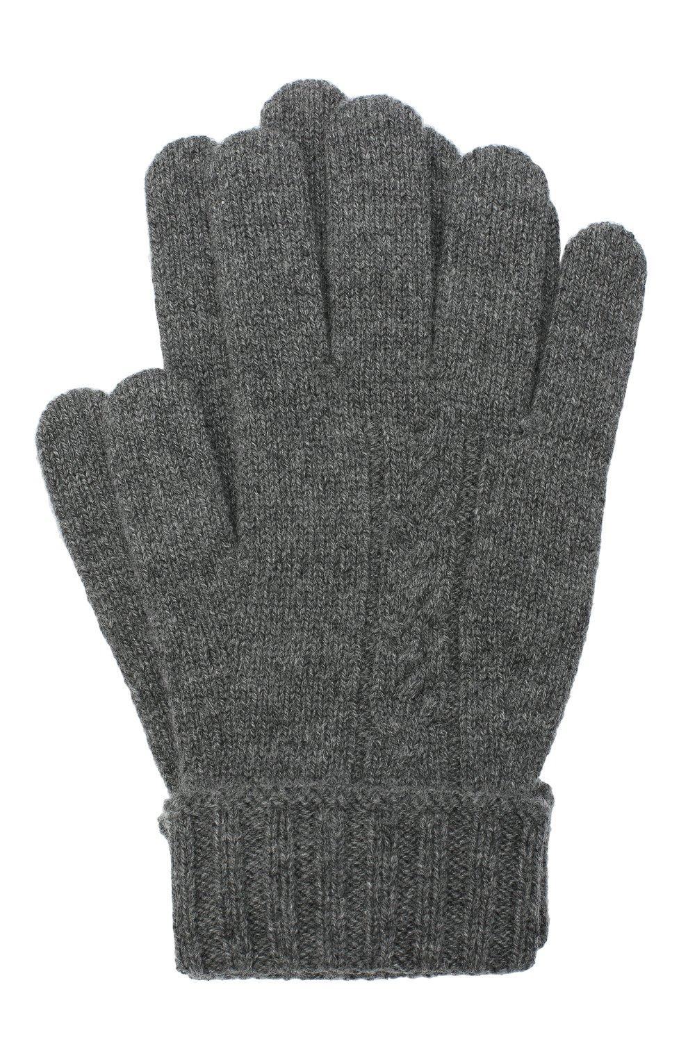 Детские кашемировые перчатки LORO PIANA серого цвета, арт. FAI7332 | Фото 1