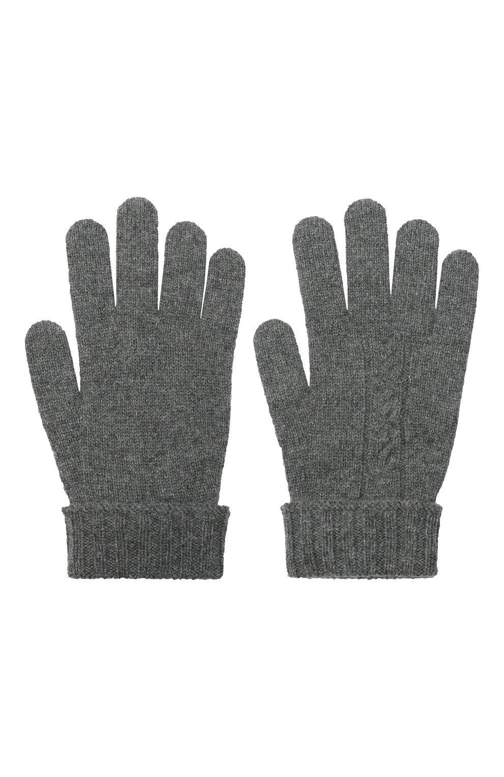 Детские кашемировые перчатки LORO PIANA серого цвета, арт. FAI7332 | Фото 2