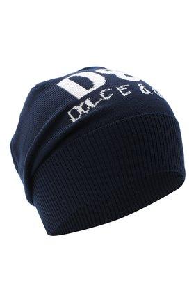 Детского шерстяная шапка DOLCE & GABBANA темно-синего цвета, арт. LBKH51/JAVYK | Фото 1