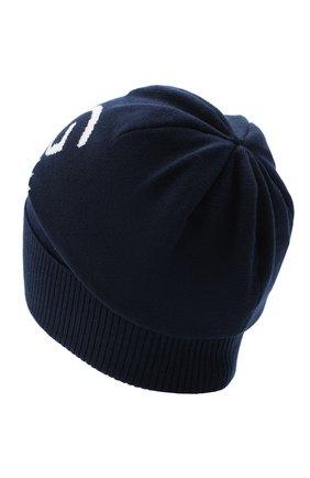 Детского шерстяная шапка DOLCE & GABBANA темно-синего цвета, арт. LBKH51/JAVYK | Фото 2