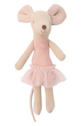 Детского игрушка мышка-балерина старшая сестра MAILEG бежевого цвета, арт. 16-6787-00   Фото 1