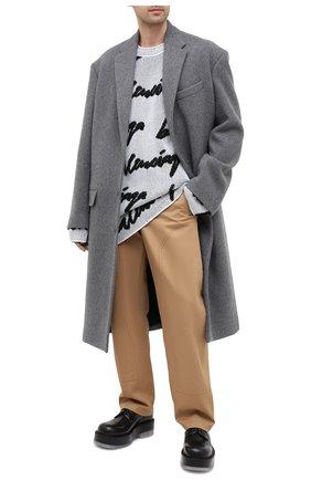 Мужские кожаные дерби BOTTEGA VENETA черного цвета, арт. 632512/VBS30 | Фото 2 (Материал внутренний: Натуральная кожа; Стили: Классический)