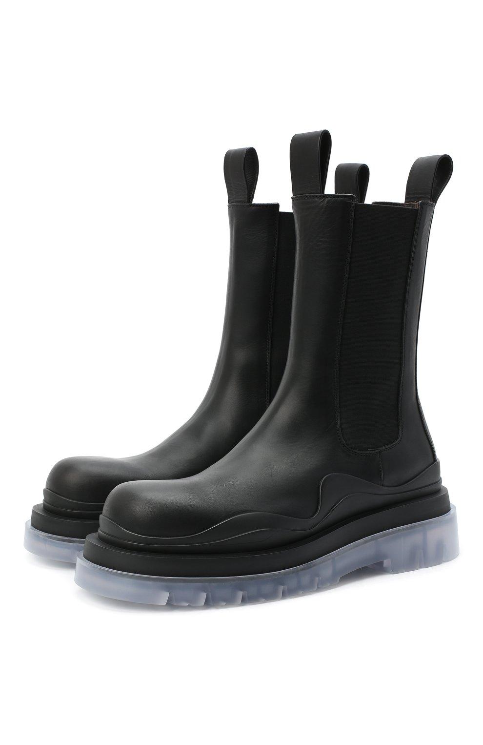 Мужские кожаные челси BOTTEGA VENETA черного цвета, арт. 630284/VBS50   Фото 1