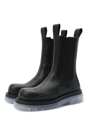 Мужские кожаные челси BOTTEGA VENETA черного цвета, арт. 630284/VBS50 | Фото 1