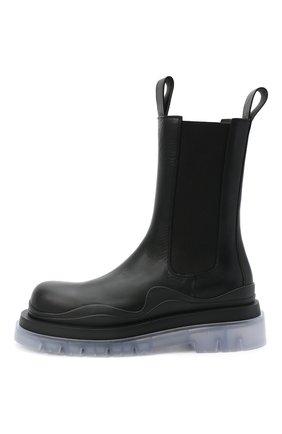 Мужские кожаные челси BOTTEGA VENETA черного цвета, арт. 630284/VBS50   Фото 3