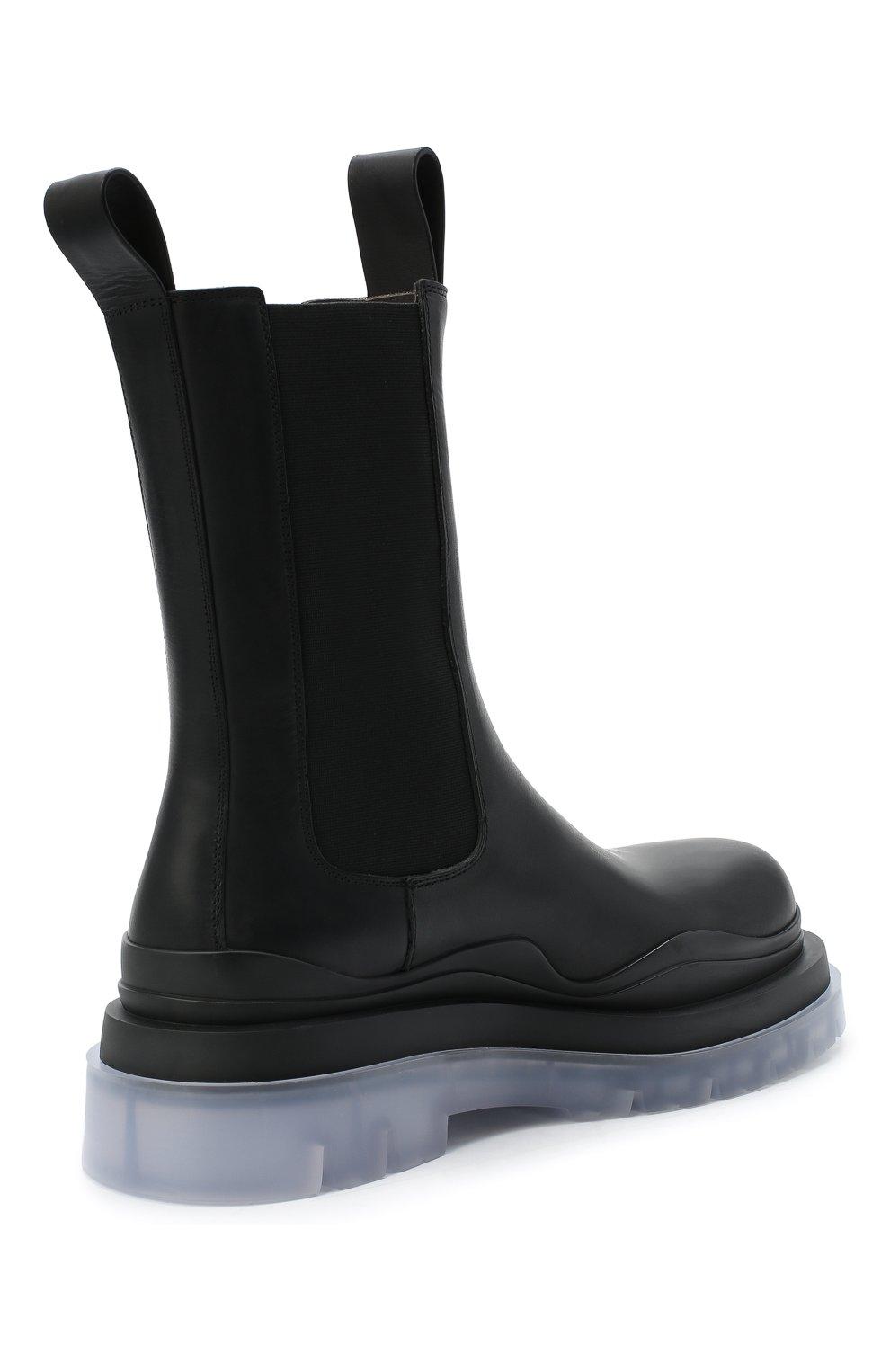 Мужские кожаные челси BOTTEGA VENETA черного цвета, арт. 630284/VBS50   Фото 4