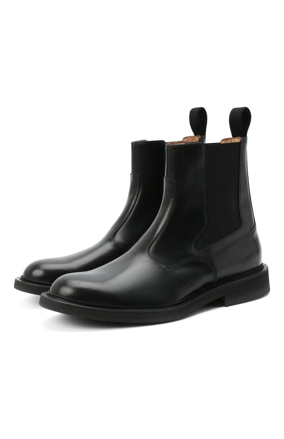 Мужские кожаные челси BOTTEGA VENETA черного цвета, арт. 578281/VCLQ0 | Фото 1