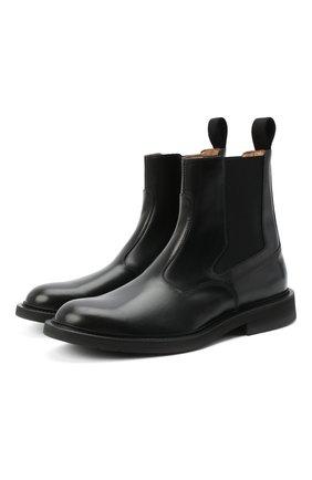 Мужские кожаные челси BOTTEGA VENETA черного цвета, арт. 578281/VCLQ0 | Фото 1 (Подошва: Плоская; Материал внутренний: Натуральная кожа)