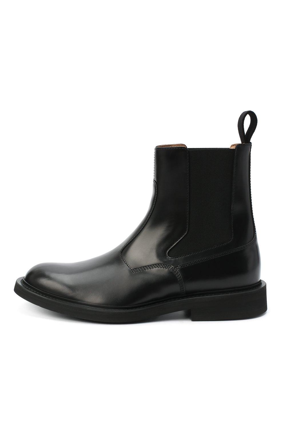 Мужские кожаные челси BOTTEGA VENETA черного цвета, арт. 578281/VCLQ0 | Фото 3
