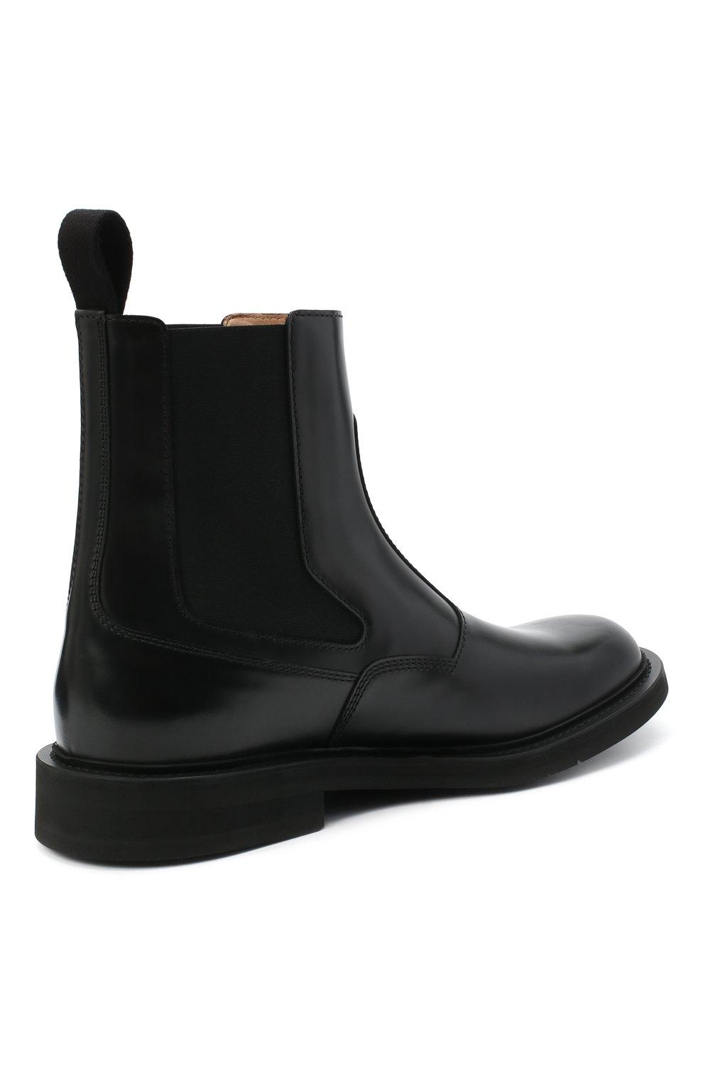 Мужские кожаные челси BOTTEGA VENETA черного цвета, арт. 578281/VCLQ0 | Фото 4