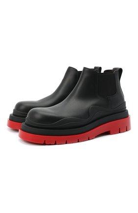 Мужские кожаные челси BOTTEGA VENETA черного цвета, арт. 630281/VBS50 | Фото 1