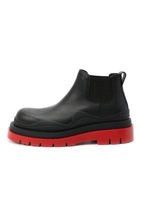 Мужские кожаные челси BOTTEGA VENETA черного цвета, арт. 630281/VBS50 | Фото 3
