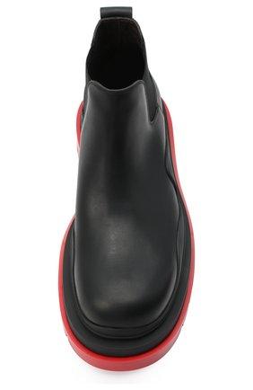 Мужские кожаные челси BOTTEGA VENETA черного цвета, арт. 630281/VBS50 | Фото 5