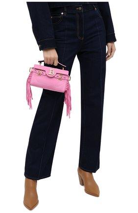Женская сумка BALMAIN розового цвета, арт. UN1S533/LCRF | Фото 2