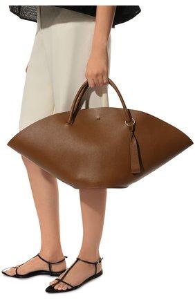 Женский сумка-шопер sombrero medium JIL SANDER коричневого цвета, арт. JSPR851309-WRB69139V | Фото 2