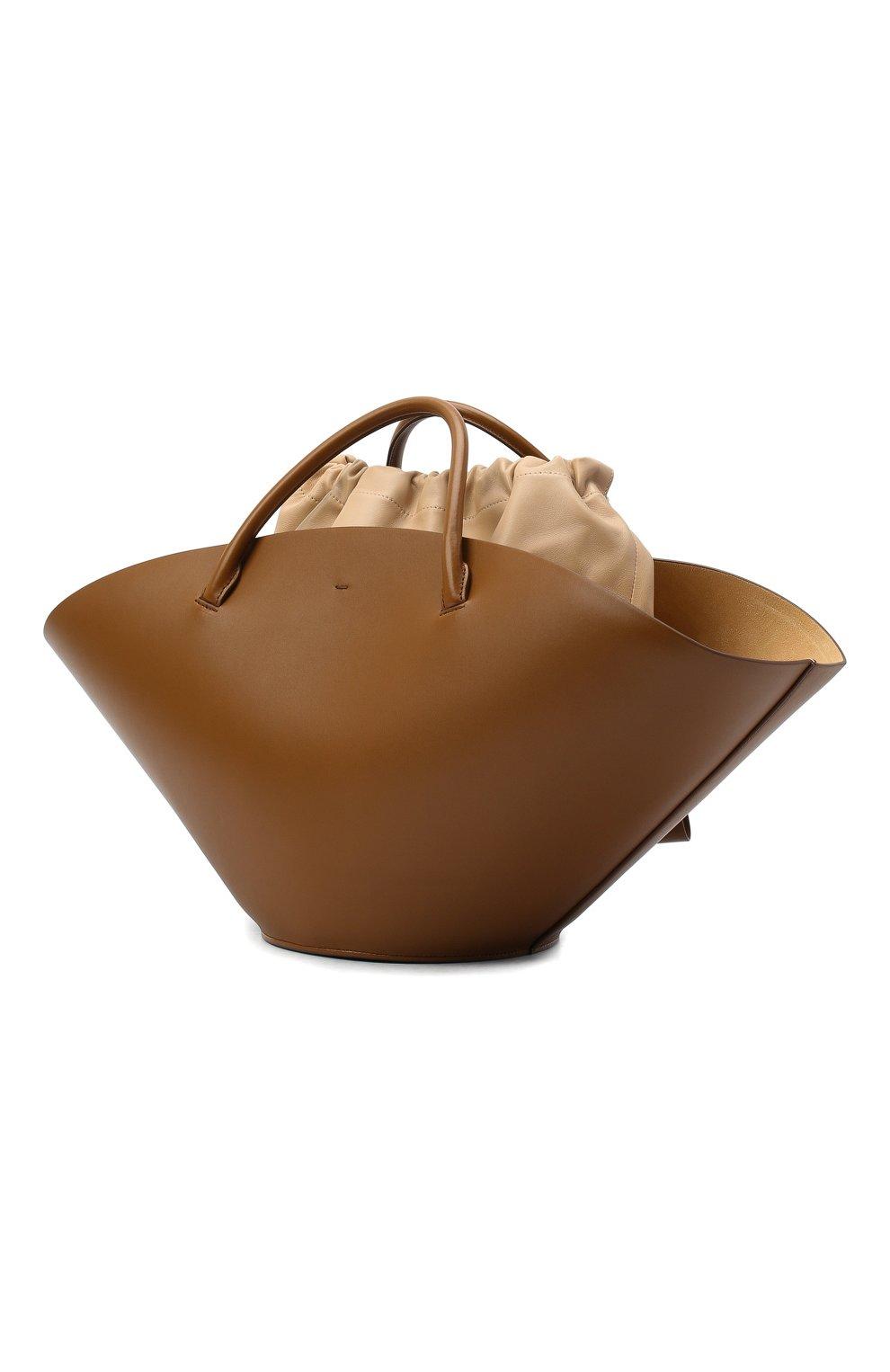 Женский сумка-шопер sombrero medium JIL SANDER коричневого цвета, арт. JSPR851309-WRB69139V | Фото 4