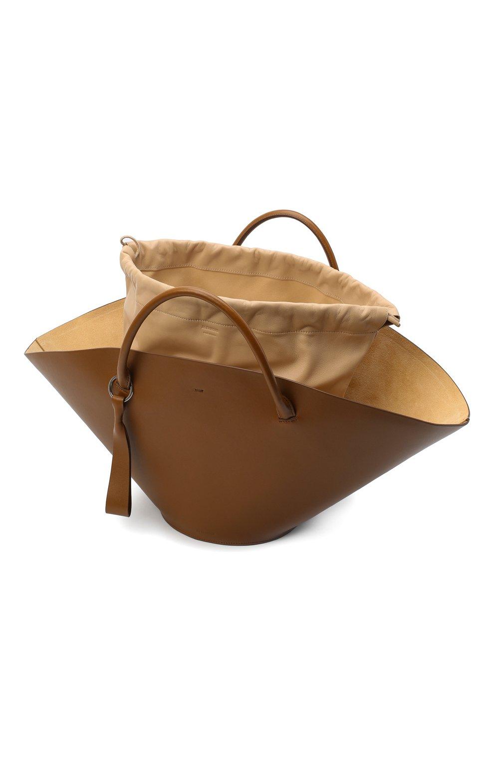 Женский сумка-шопер sombrero medium JIL SANDER коричневого цвета, арт. JSPR851309-WRB69139V | Фото 5