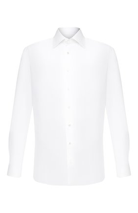 Мужская хлопковая сорочка ZILLI белого цвета, арт. MFU-10715-0299/0004 | Фото 1