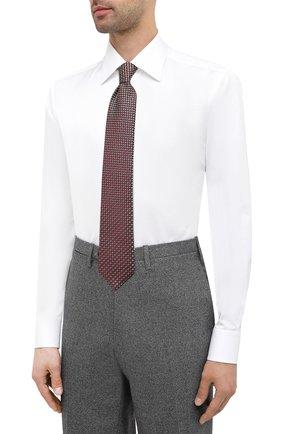 Мужская хлопковая сорочка ZILLI белого цвета, арт. MFU-10715-0299/0004   Фото 4
