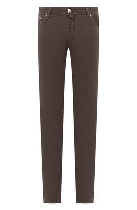 Мужской хлопковые брюки JACOB COHEN коричневого цвета, арт. J688 C0MF 08805-V/54 | Фото 1