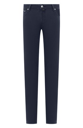 Мужской хлопковые брюки JACOB COHEN темно-синего цвета, арт. J688 C0MF 08805-V/54 | Фото 1