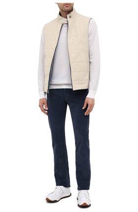 Мужской хлопковые брюки JACOB COHEN темно-синего цвета, арт. J688 C0MF 08805-V/54 | Фото 2