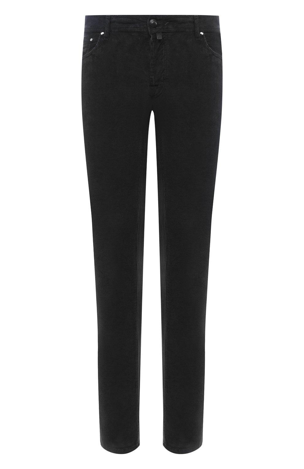 Мужские хлопковые брюки JACOB COHEN черного цвета, арт. J688 C0MF 02077-V/54   Фото 1