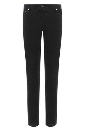 Мужской хлопковые брюки JACOB COHEN черного цвета, арт. J688 C0MF 02077-V/54 | Фото 1
