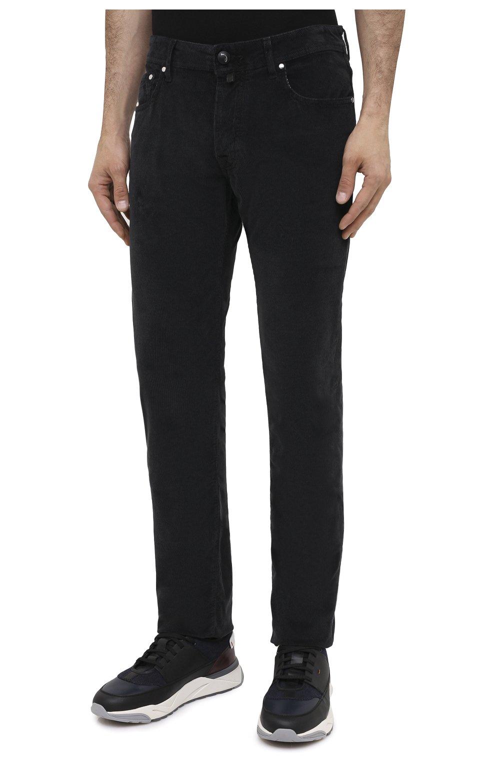 Мужские хлопковые брюки JACOB COHEN черного цвета, арт. J688 C0MF 02077-V/54   Фото 3