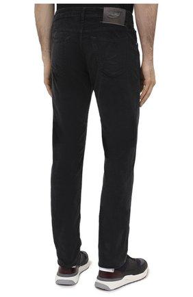 Мужские хлопковые брюки JACOB COHEN черного цвета, арт. J688 C0MF 02077-V/54   Фото 4