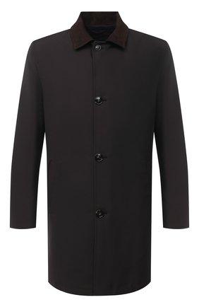 Мужской шерстяное пальто KITON коричневого цвета, арт. UW0761V03T58 | Фото 1