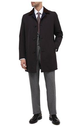 Мужской шерстяное пальто KITON коричневого цвета, арт. UW0761V03T58 | Фото 2